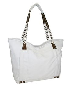 This White Whip It Tote by Punto Uno is perfect! #zulilyfinds