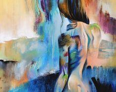 Arte desnudo con figura abstracta arte figura por FigureArt