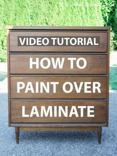 How to Paint Over Laminate and Plastic Video Tutorial sloan painted furniture painted furniture furniture ideas furniture laminate furniture diy Particle Board Furniture, Painting Laminate Furniture, Do It Yourself Furniture, Furniture Repair, Chalk Paint Furniture, Furniture Projects, Furniture Makeover, Redoing Furniture, How To Paint Laminate