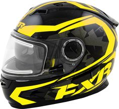 FXR Racing - 2015 Snowmobile Apparel - Nitro Full Face Helmet - Black/HiVis