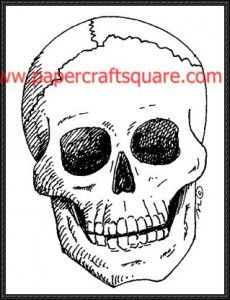 Skull Papercraft free download