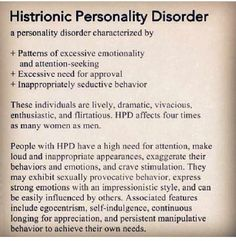 Psychology -- histrionic personality disorder