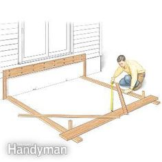a veteran pro tells you his favorite deck building tips that speed up the job, increase deck durability and improve quality. the result is a better deck, less hassle and fewer problems. (Patio Step The Family Handyman) Deck Building Plans, Deck Plans, Under Deck Roofing, Under Deck Ceiling, Deck Footings, Trex Decking, Composite Decking, Decking Planks, Terrasse Design