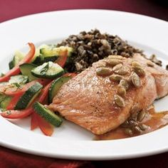 Salmon with Pepita-Lime Butter for Two - EatingWell.com