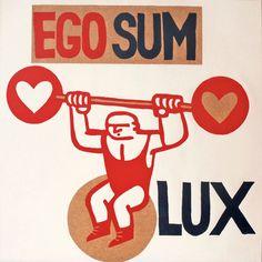 ego sum lux yo soy la luz por ARTeFAKTshop en Etsy