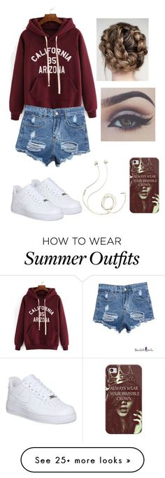 """Casual summer outfit"" by squidney12 on Polyvore featuring moda, NIKE, Molami y Casetify"