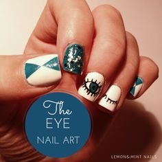 Eye nail art - Go to www.lemonnmintnails.weebly.com