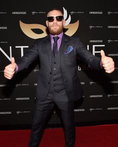 McGregor, other fighters, react to UFC sale Conor Mcgregor Style, Ufc, Dress To Impress, Style Icons, Blues, Mens Sunglasses, Suits, Tired, Fitness
