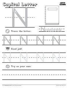 Capital Letter N | Lotty Learns