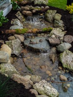 Natural looking water feature