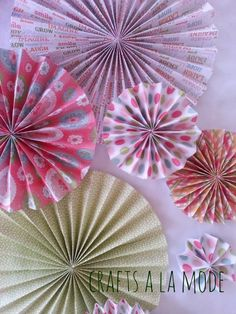 How to Make Paper Rosettes   Crafts a la mode