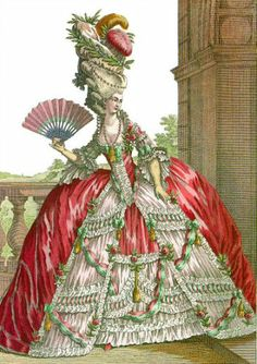 Marie Antoinette Style Fashion Plate by DarKaso Rococo Fashion, French Fashion, Victorian Fashion, Style Fashion, Victorian Women, Woman Fashion, Dress Fashion, Marie Antoinette, 18th Century Clothing