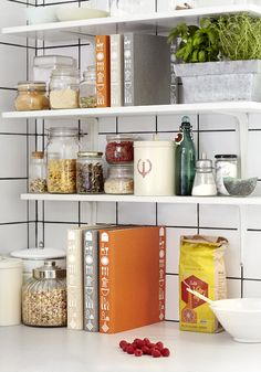 Shelf space in the kitchen