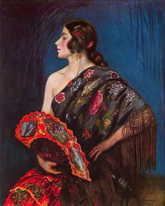 Flamenco Dancer Artwork By George Owen Wynne Apperley Oil Painting & Art Prints On Canvas For Sale Spanish Woman, Spanish Art, Spanish Eyes, Spanish Ladies, Spanish Culture, Spanish Style, Turbans, Flamenco Dancers, Foto Art