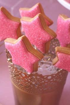 Gorgeous Pink and Gold Pinkalicious Party Birthday Party Snacks, 6th Birthday Parties, Birthday Ideas, Birthday Crafts, 4th Birthday, Pink And Gold Birthday Party, Gold Party, Princess Birthday, Princess Party