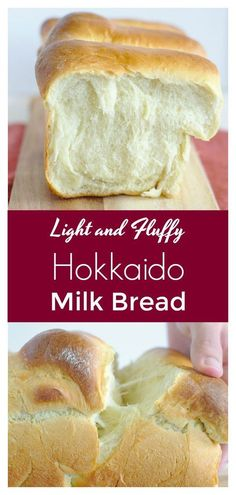 Hokkaido Milk Bread – Light and fluffy Japanese bread that is easy to make! This… Hokkaido Milk Bread – Light and fluffy Japanese bread that is easy to make! This milk bread is perfect for breakfast with a bit of butter! Bread Machine Recipes, Easy Bread Recipes, Baking Recipes, Dessert Recipes, Baking Ideas, Sweet Desserts, Recipes With Old Bread, Breadmaker Bread Recipes, Healthy Recipes