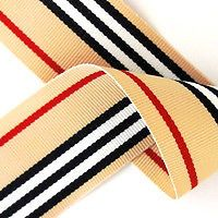 "22mm (7/8"")/38mm (1.5"")  wide BEIGE,RED BLACK/WHITE STRIPE GROSGRAIN RIBBON TRIM"