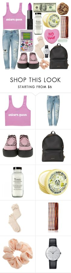 """""""Holding Onto You"""" by paper-towns ❤ liked on Polyvore featuring Zara, T.U.K., Givenchy, NARS Cosmetics, The Body Shop, Charlotte Russe, Mason Pearson, Topshop and Klein & more"""