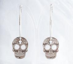 muerto silver hoops