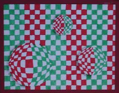 Kids Artists: op art.  Lots of ideas and samples.  Like the multiple spheres in this pic.