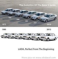 Evolution of the BMW 5 series, evolution of LADA