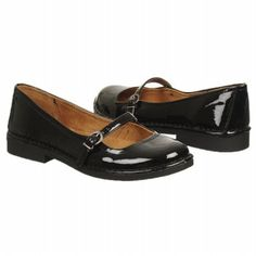 Natural Soul by Naturalizer Jaclyn Shoes (Black Shiny) - Women's Shoes - 9.0 M