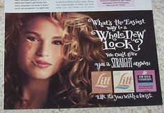 1995 advert - LILT perm curls CUTE girl hair - vintage PRINT AD Advertising