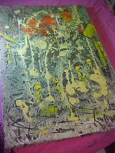 Len Aaron art   vintage  Oil Painting by VintageAudioPlus on Etsy, $279.97