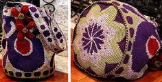 M Ruska, Purple Cats Eye Lucky Charm Drawstring Bag, May 2012.