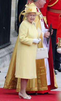 Queen Elizabeth leaving Westminster Abbey after William and Kate's wedding.