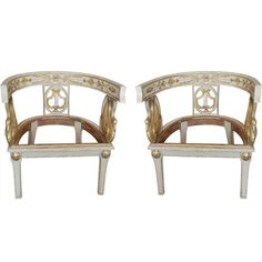 to upholster - pair of napoleon i armchairs - france - 1800s - LENGTH: 	25.5 in. (65 cm) DEPTH: 	20 in. (51 cm) HEIGHT: 	26 in. (66 cm) SEAT HEIGHT: 	14 in. (36 cm)
