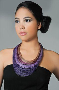 String Art Long Necklace SAL-01 Purple from Sea Salt - so pretty