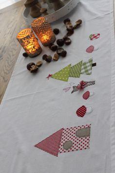 """Weihnachtsdeko - Tischläufer """"Winterzauber"""" LIMITIERTE Stückzahl!! - ein Designerstück von milla-louise bei DaWanda"""