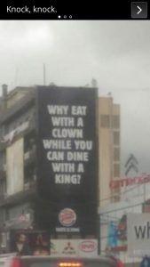Burger King vs McDonald's...