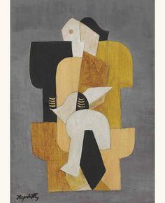 «Jacques Lipchitz: Cubist Compositon (1918)».