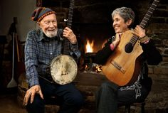 pete seeger and joan baez  the instruments of song