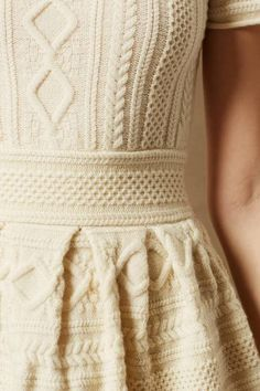 Butter Cream Cabled Sweater #Dress #holiday [more at pinterest.com/eventsbygab]