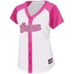 Houston Astros Women's Pink Splash Fashion Jersey by Majestic Athletic