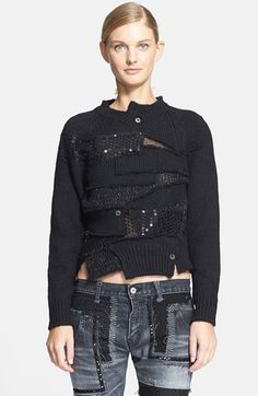 Junya Watanabe Embroidered Patchwork Sweater | Nordstrom