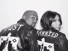 Kanye West Claims Annie Leibovitz is 'Afraid of Celebrity' image Kanye West Kim Kardashian BLK DNM Leather Jackets
