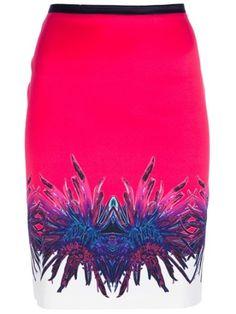 Roberto Cavalli Floral Print Skirt - Stefania Mode - Farfetch.com