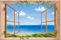Beach Dreaming Mural - Dina Farris Appel  Murals Your Way