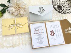 Chinese Folded Envelope Wedding Invitation with by craftandcrane