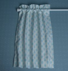 How to Sew a Simple (lined) Cafe Curtain