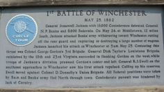 First Battle of Winchester Marker. Click for full size.