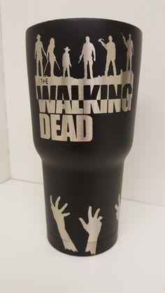 The Walking Dead 30 oz. powder coated tumbler by KerfeePowderCoating on Etsy