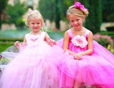 Tulle Flower Girls #Weddings