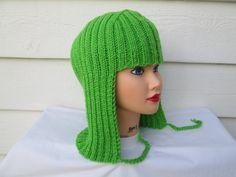 Womans Hat Hair Knit Wig women winter hats Hat by Ritaknitsall
