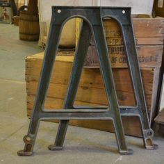 Vintage Cast Iron Machine Base Legs for A Table Philadelphia Salvage Co | eBay