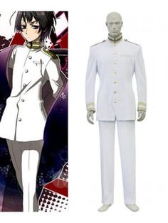 Hetalia: Axis Powers Janpanse White Uniform Cosplay Outfits Costumes
